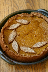 buckled deep dish pumpkin pie