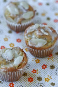 Lemon-Glazed Almond-Poppy Seed Mini Muffins