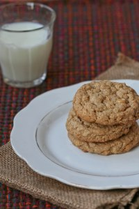 Peanut Butter Oatmeal Cookie stack 1