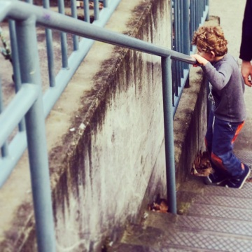 Graham on the steps