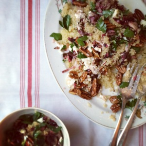Warm Quinoa and Radicchio Salad