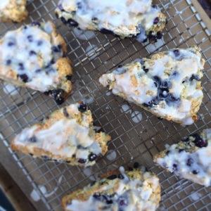Blueberry-Ginger Buttermilk Scones