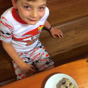 Scones, and a scarred eyebrow